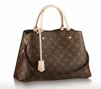 borsa a tracolla in pelle marrone Louis Vuitton da donna