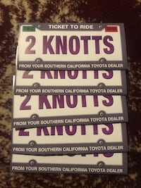 5 pairs of Knott's Berry Farm tickets Compton, 90220