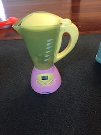 pink and green blender