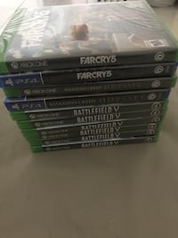 Xbox one and PS4 games on Sealed. 30 usd for each game. Houston, 77072