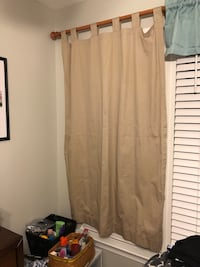 2 Khaki Curtains 4ft 11in Burke, 22015