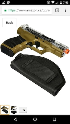 brown and black air soft pistol