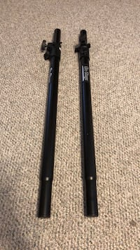Subwoofer pole speaker stands