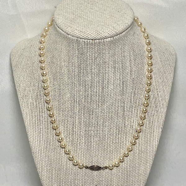 Freshwater Pearl Necklace with Sterling Silver Clasp 6b967268-e0a4-4ebd-96eb-619bf704fe51