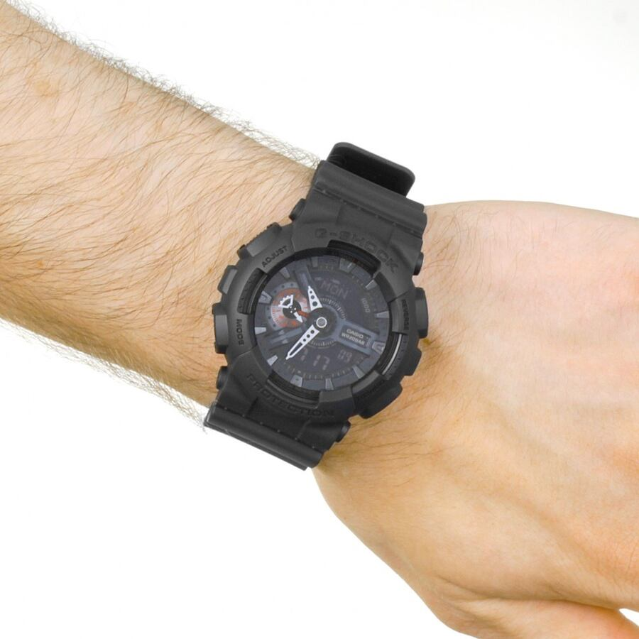 CASIO G-SHOCK military watch GA-110MB black with red accents b3a09870-480c-4d53-b4ca-286d52d196e5