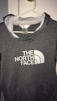 Grey the north face hoodie