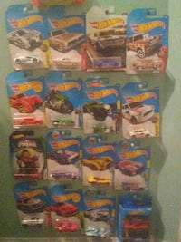 sixteen Hot Wheels die-cast car with package collection
