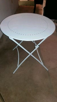White foldable metal indoor outdoor table Pikesville, 21208