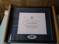 Georgetown University Diploma Frame Great Falls