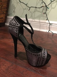 BLACK SILVER PUMPS Davie, 33331