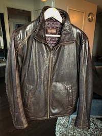 Danier Brown Leather Jacket 535 km