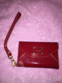 Red leather michael kors wristlet Hamilton, L9C 3W9