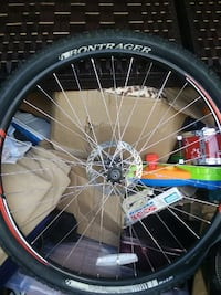 silver and black Bontrager bicycle wheel Salt Lake City, 84118