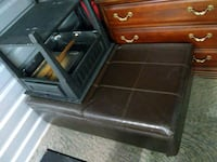 A leather ottoman and two end tables Franklin, 37064