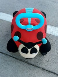 toddler's red and black Little Tikes ladybug ride-on toy 1280 mi