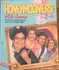 VINTAGE 1986 THE HONEYMOONERS VCR GAME. A WORD AND MEMORY GAME FROM TV'S GOLDEN AGE Bensalem, 19020