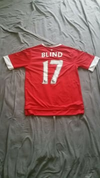 Manchester United 2015/16 Home Jersey Adidas Men S #17 Daley Blind w/E Falls Church