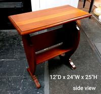 Solid Pine End Table/ Book Rack / Wooden Magazine Rack / Side Table