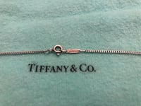 Authentic tiffany & co sterling silver 925 box link 18 inch chain necklace   Surrey, V4N 6A2
