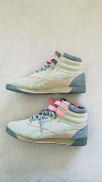 Reebok green sneakers hi top 2066 mi