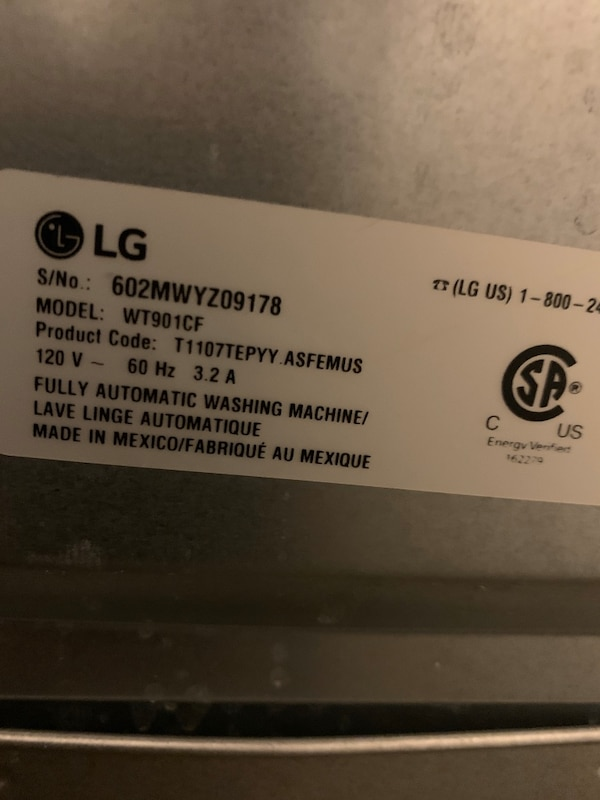 LG washer and dryer 2