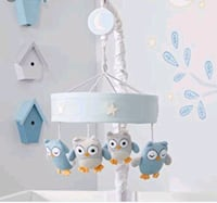 Lambs and Ivy baby mobile -blue owls Surrey