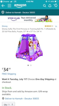 Disney Sofia The First Princess in Training Ball Pit Sandy Springs, 30350