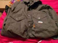 gray button-up jacket The Village, 73120