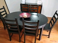 Solid wood dining table for 6-4 people with 6 chai Annandale, 22003
