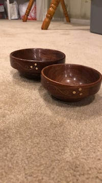 Hand painted wooden bowls (from India)