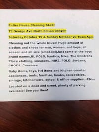 HUGE Garage Sale! Edison