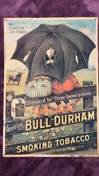Vintage Bull Durham Advertising Tin Omaha