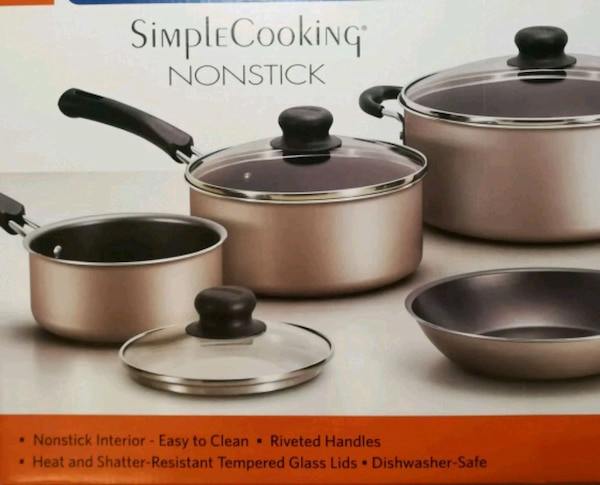 9-piece non-stick cookware - NEW 54c93bbb-6f0d-4d13-b04f-f92e6dec8850
