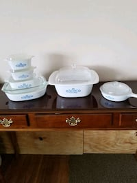 CORNING WARE SET. This includes a Large 4 Liter piece.