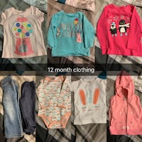 12 month clothing  Edmonton, T5T