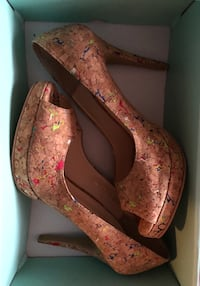 Cork Peep Toe Young and Tae Shoes  Brampton, L6X