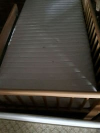 white and brown wooden bed frame Houston, 77084