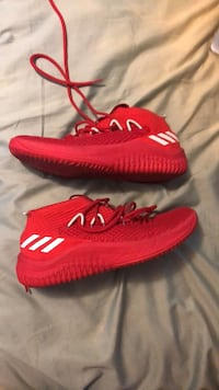 pair of red Adidas Yeezy Boost 350 V2 Denver, 80207