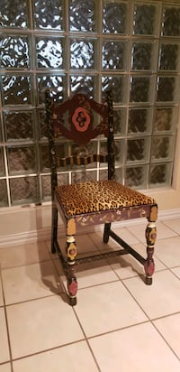 Chair hand painted  by DALLAS decorator  Oklahoma City, 73120