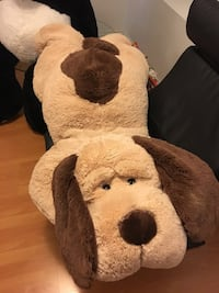Full size dog plush toy