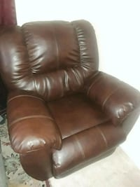 brown leather recliner sofa chair Mulberry, 33860