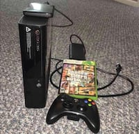 Black Xbox 360 console with controller and GTA 5 game Suitland, 20746