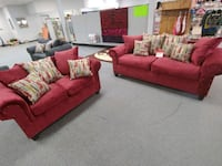 Two-piece burgundy living room suit only $699.99 Northport, 35476