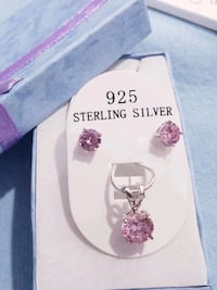 Beautiful 925 sterling silver pink sapphire set Omaha, 68137