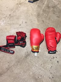 Boxing and UFC gloves.