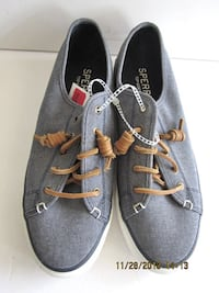 Sperry Top-Sider Women Crest Vibe Chambray Sneaker 8.5M Linganore