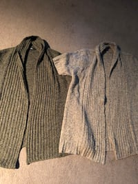 LADIES CARDIGAN OPEN SWEATERS SIZE 1X. 7.00 for both