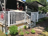 8' x 36' deck. Includes stairs, rails and 2 gates. Square and L-shaped, wood platforms also included Kawartha Lakes, K0M
