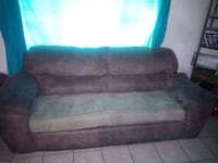 Microfiber suede couches and rocking recliner