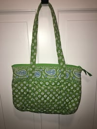 green and white leather tote bag Framingham, 01701